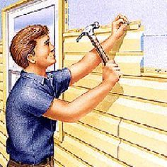 Installing Vinyl Siding in These 23 Steps Vinyl Siding Repair, Roof Repair, Vinyl Siding Installation, House Siding, Home Repairs, Cabin Plans, Kit Homes, The Ranch, Home Improvement Projects