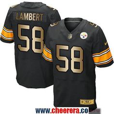 c415e11e5 ... Mens Pittsburgh Steelers 58 Jack Lambert Black With Gold Stitched NFL  Nike Elite Jersey ...
