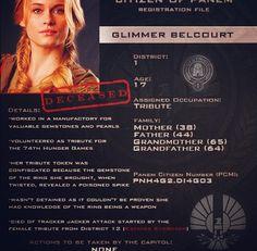 Citizen of Panem Registration File : Glimmer Belcourt