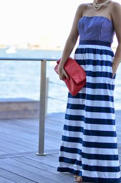 :: nautical down by the harbor :: #houndstoothandhighheels