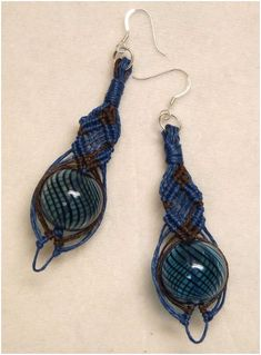 Micro Macrame and Wire | Gorgeous Micro Macrame Jewelry by Ifat Creations