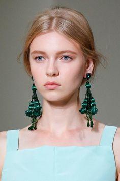 Oscar de la Renta glamorous satin tassel earrings