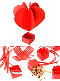 Create these yourself - Heart-shaped Hot Air Balloons - freshly found