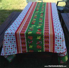Mantel navideño rectangular. myvioletdesigns.com