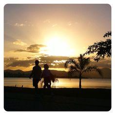Sunset in Florianópolis, Brazil