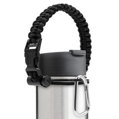 Diateklity Paracord Handle, Fit for Hydro Flask, Nalgene and Most Wide Mouth Water Bottles - Comes with Safety Ring and Carabiner *** You can find out more details at the link of the image.