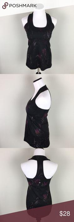 Lululemon Floral scoop neck tank sz 6 In great condition, missing bra cups lululemon athletica Tops