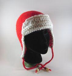 Crochet Aviator Beanie Hat - $23.00