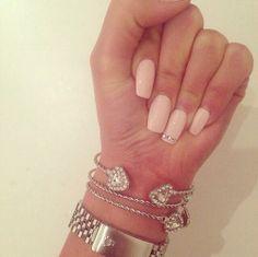Nail art pink com strass!