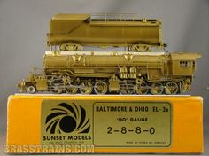 HO Sunset B&O EL-3a 2-8-8-0 Articulated  Sold for $695.00