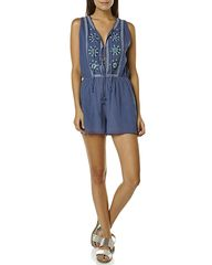 TIGERLILY JASIONE WOMENS ONESIE - MARAIS BLUE on http://www.surfstitch.com