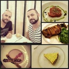 Por que nos merecemos un homenaje #dinner #kobe #tataki #panacotta #pie #food #foodporn #foodpics #instafood #lime #violet #meat #tuna #desert by sergi_polo
