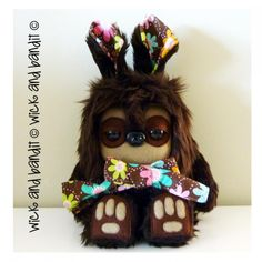 $60.00 Nimble Yetirabbit by Wickandbandit on Handmade Australia