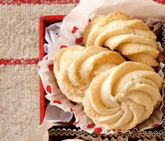Classic Whipped Shortbread—Every bite of these easy-to-make cookies will melt in your mouth. Go the traditional route and decorate with glacé cherries or use a piping bag and star tip to pipe the dough into pretty rosettes.
