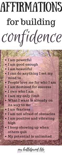 Affirmations are a powerful tool to build your confidence! Repeat those daily to believe in yourself more. #buildingconfidence #beconfident #selflove #lawofattraction #positiveaffirmations how to be confident, affirmations for confidence, confidence tips, self esteem tips, self love, how to be happy, healthy living