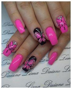 30 natural elegant summer nail designs to prepare for parties and holidays 2019 … - Summer Acrylic Nails Fingernail Designs, Pink Nail Designs, Beautiful Nail Designs, Acrylic Nail Designs, Acrylic Nails, Elegant Designs, Pink Nail Art, Pink Nails, Butterfly Nail Art