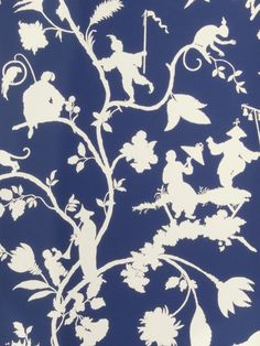 Stroheim Wallpaper 0692801 Clayfield Blue & White