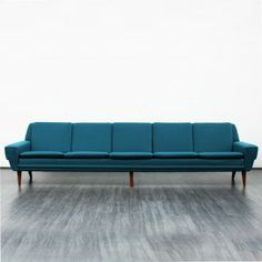 Rare five-seater-sofa, 1950s, Scandinavian style -- velvet-point.com