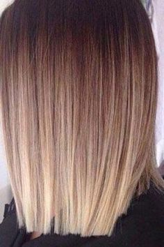 Ash Blonde to Brown Sombre for Straight Hair