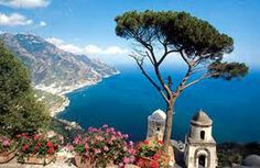 Ravello, fanatstic view of amalfitan cost in Italy