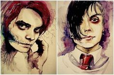My Chemical Romance ~ Frank Iero and Gerard Way art>>>> should I try…
