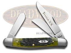 CASE XX Jigged Olive Green Bone Tested XX Medium Stockman Stainless Pocket Knife Knives