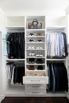 Tips and tricks to keep in mind when building your dream closet. Men's C Master Closet Tour – Mika Perry. Tips and tricks to keep in mind when building your dream closet. Men's Closet organization tips. Master Closet Design, Master Bedroom Closet, Small Master Closet, Hallway Closet, Closet Tour, Men Closet, Closet Minimalista, Mens Closet Organization, Organization Ideas