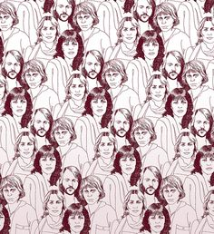 ABBA by aprintaday, via Flickr I'd wallpaper at least one wall of my home with…