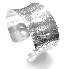 Elven Jewelry Boho Bracelet Cuff Unisex Silver Cuff Silver Art Nouveau Cuff