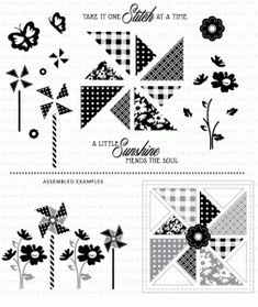 15.00  Quilted: Summer Stamp Set   ***GOES WITH QUILTED SUMMER DIES***