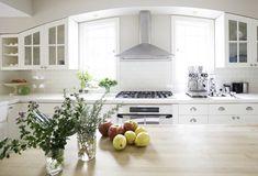 white kitchen with modern farmhouse craftsman details | tiffany wendel house tour via coco+kelley