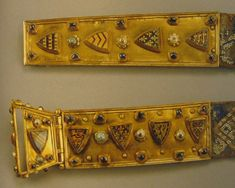 Fernando de la Cerda's belt buckle and strap end, 1255-75, Spain