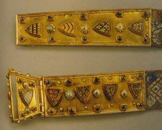 Fernando de la Cerda's belt buckle and strap end, 1255-75, Spain