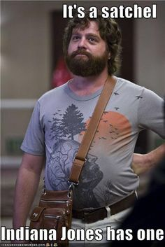 """I say this all the time! Someone's like """"it's a briefcase"""" or """"manpurse"""" I'm just like """"no... it's a sachel..."""" <3"""