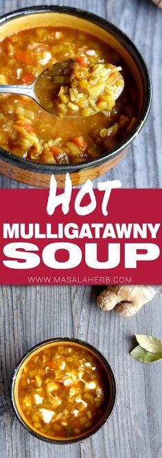 Mulligatawny Soup - How to make Mulligatawny Soup www.MasalaHerb.com #soup #spiced #masalaherb