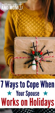 Learn some great ideas for how to handle the holidays when your spouse works. Perfect for military spouse with a service member who works long hours and unusual shifts. **Loved tips #3 and #5 from this post. via @lauren9098