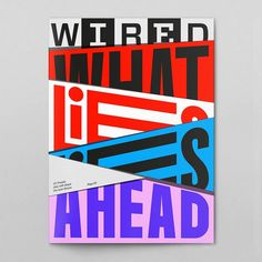 """WIRED"" magazine cover / couverture ""What lies ahead"""