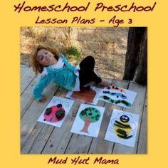 Free Homeschool Preschool Lesson Plans, Age 3 - Mud Hut Mama