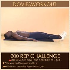 """""""DAY 6. Abs attack.  Get your abs well engage. Get it flat and strong.  This workout needs to be done slow with good form. I did 20 rep for 10 set. Within…"""""""