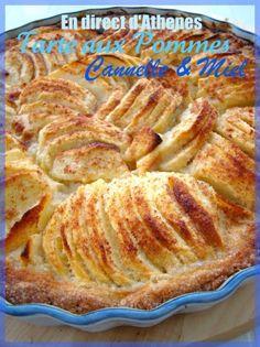 Cette tarte est la petite soeur de celle-ci, la différence : la pâte sablée est parfuméeà la cannelle. Ingrédients :  Pour la pâte : 250 g de farine 120 g de sucre 150 g de beurre mou 1 oeuf 1 càc de cannelle bio  Pour la crème au miel...