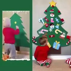 Excellent DIY Felt Christmas Tree (Greatest Present for Children.) The most effective DIY felt Christmas . Diy Felt Christmas Tree, Christmas Trees For Kids, Preschool Christmas, Christmas Projects, Christmas Holidays, Christmas Decorations Diy For Kids, Christmas Ideas For Toddlers, Toddler Christmas Crafts, Homemade Christmas