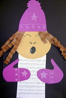 Christmas Carolers Art Project a new twist on one of my old favorite projects designed by Jenny Boldt!