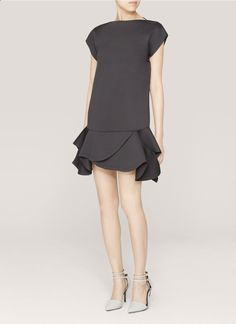 GIVENCHY - Ruffled neoprene dress - on SALE | Black Cocktail Dresses | Womenswear | Lane Crawford - Shop Designer Brands Online