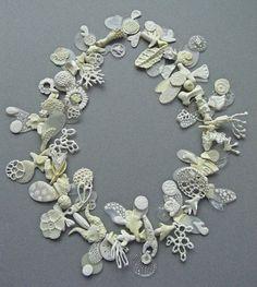 Necklace, 'Ceremonial Chaos' porcelain & resin, 2012 www.facebook.com/TheCuriositySmith