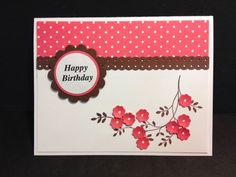 Thoughts and Prayers Birthday Card Stampin' Up! Rubber Stamping Handmade Card Birthday Card