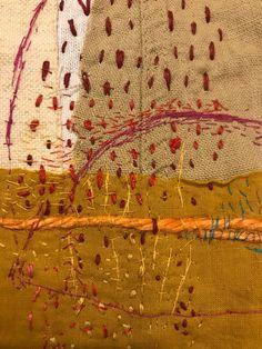 Stephanie Fujii Textile Fiber Art, Textile Artists, Embroidery Art, Embroidery Stitches, Boro Stitching, Creative Textiles, Japanese Textiles, Fabric Yarn, Weaving Art