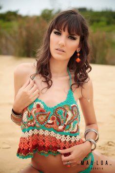 MauLoa Fotografia: Moda Praia Crochê - Confeitos e Confetes