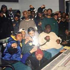 BTNH, The Notorious B.I.G., Diddy,and Stevie J in the studio recording Notorious Thugs