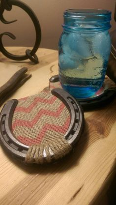 Coaster Horse Shoe Chevron Pink with a barn wood by Felluponsigns