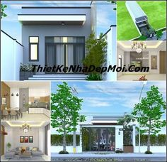 mau nha cap 4 dep 5x26 o bien hoa My House Plans, Floor Plans, Mansions, House Styles, Outdoor Decor, Home Decor, Container, Concept, House